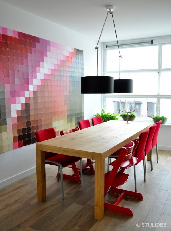 Ideas wanddecoratie woonkamer - Meubilair tv rode ...