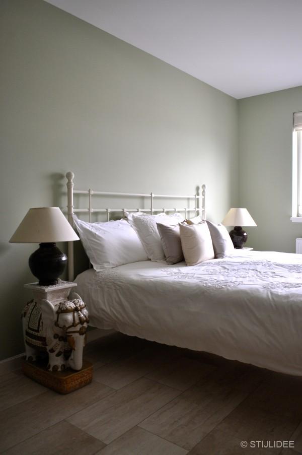 groene slaapkamer in aziatische stijl na STIJLIDEE Interieuradvies en ...