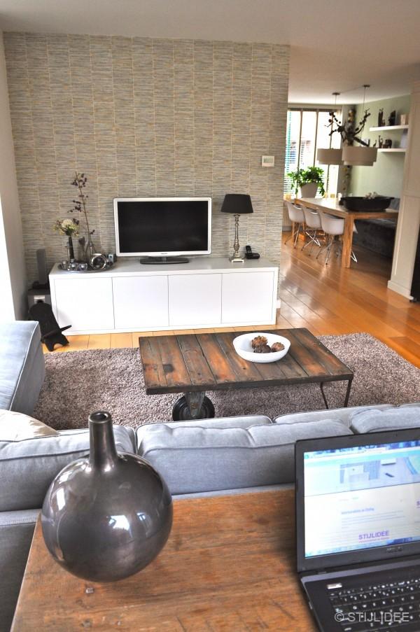 Modern landelijke woonkamer in Odijk na STIJLIDEEu0026#39;s Interieuradvies ...