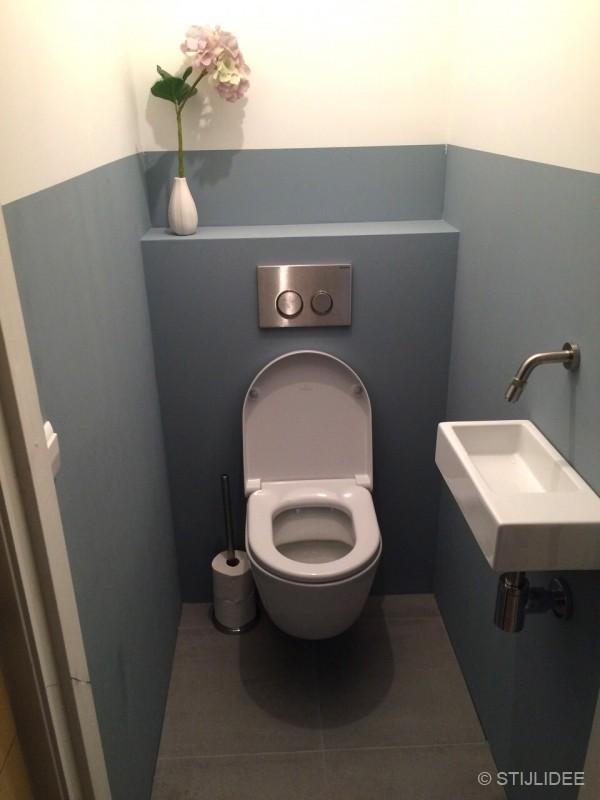in … een groene keuken en blauw toilet in Oog in Al, Utrecht