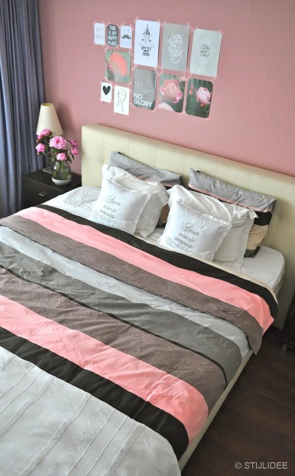 Binnenkijken … in een modern romantische slaapkamer met roze muur in ...