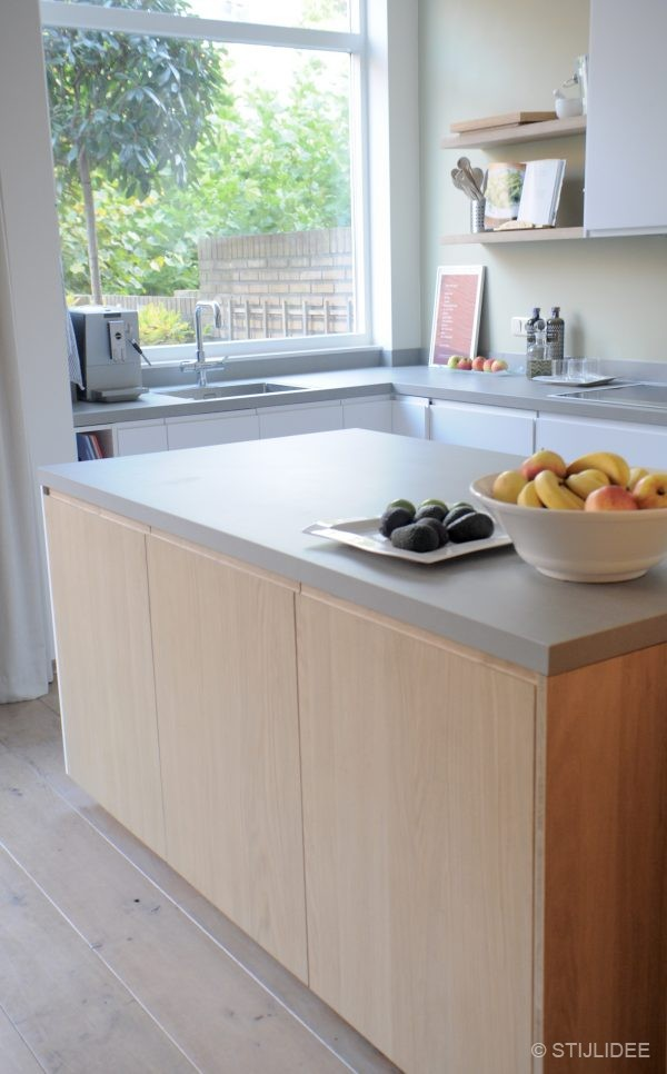 Moderne keuken hout keukenconcurrent moderne keukens nieuwe keuken landelijke - Keuken steen en hout ...