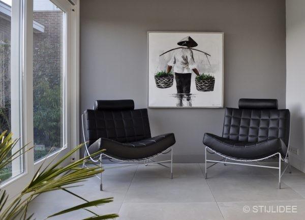 Binnenkijken in ... een woonkamer en keuken in moderne design stijl ...